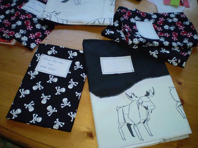 Textil füzetborítók