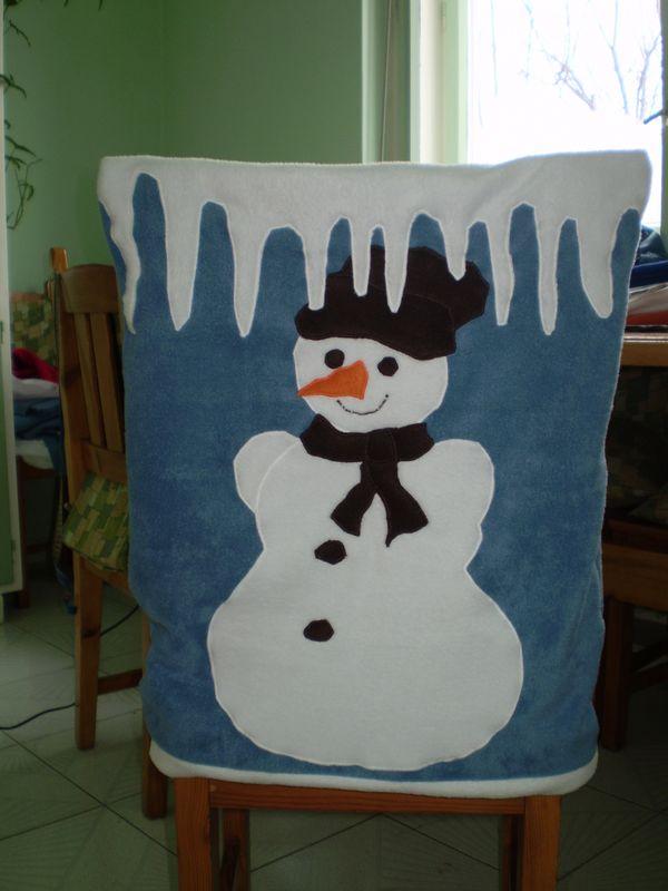 Hóember a széktámlán