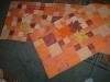 Falvédő narancsos árnyalatban