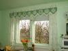 Függöny zöld virágokkal