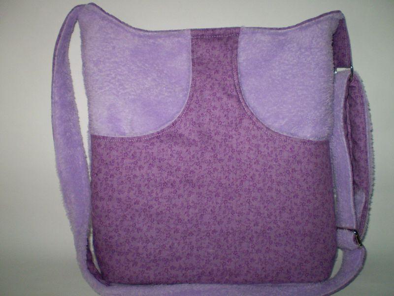 Gondoskodó téli táska lilában