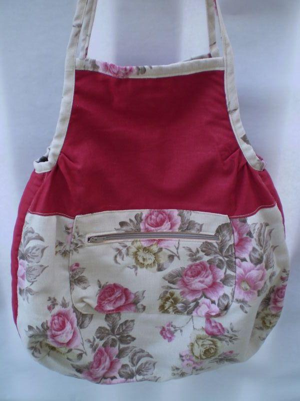 nyári táska rózsákkal