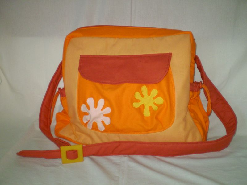 Narancs pelenkázótáska