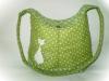 zöld cicás táska