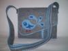 Madárkás filc táska