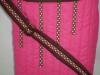 Pink és barna tavaszi táska