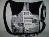 Fekete táska, kézmelegítő zsebbel
