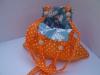 Narancssárga kifordítható táska