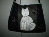 Fekete cicás táska